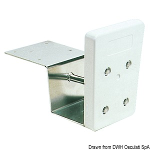 Auxiliary outboard engine bracket for stern mounting, reduced fit model title=