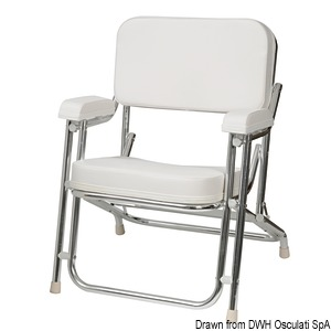 Anodized aluminium Captain's chair title=