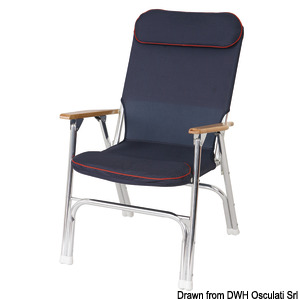 Anodized aluminium folding padded chair title=