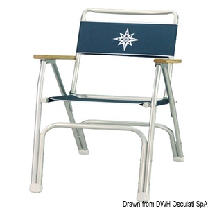 Anodized aluminium folding chair title=