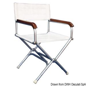 Anodized aluminium Director's folding chair title=