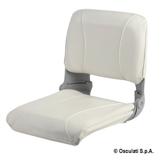Seat with foldable backrest and pull-out padding title=