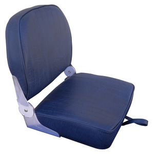 Seat w/foldable back navy blue vinyl cushion