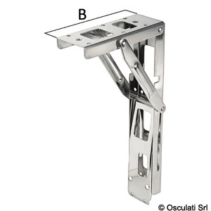 Folding arm for tables and seats