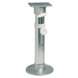 Anodized aluminium swivel pedestal with seat mount