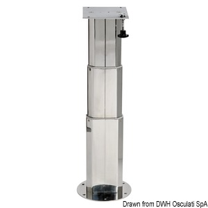 Stainless steel telescopic table pedestal title=
