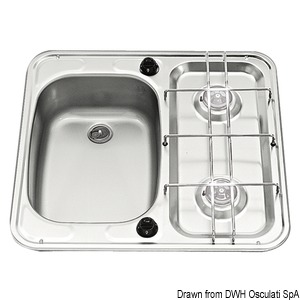 SMEV stainless steel combined hobs and sinks