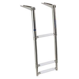 Telescopic ladder for gangplank title=