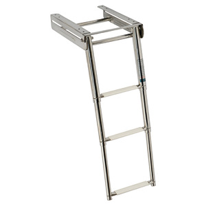 Telescopic foldaway ladder title=