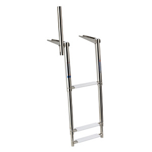 Gangplank telescopic ladders with grip handle title=