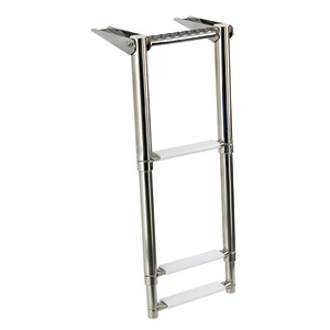 Gangplank telescopic ladder with built-in handle title=