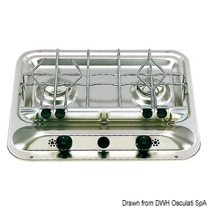 DOMETIC 2 Burner Hob without sink title=