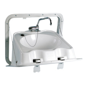 ABS wall foldable sink title=