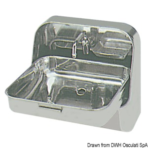 Stainless steel wall mounting sink title=