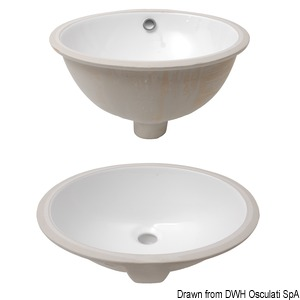 Oval sinks made of white ceramic title=