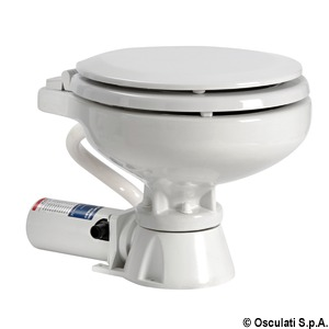 Electric toilet unit space saver wooden seat 12 V