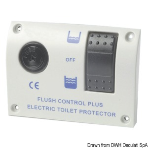 Electric control panel for electric toilets 12 V