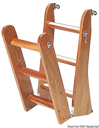 Scaletta in legno di mogano for Gradini in legno massello prezzo