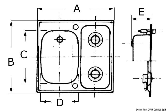 Piani cottura integrato SMEV in acciaio INOX