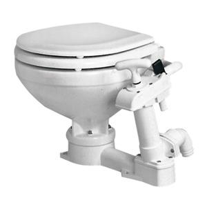 Manual toilet unit