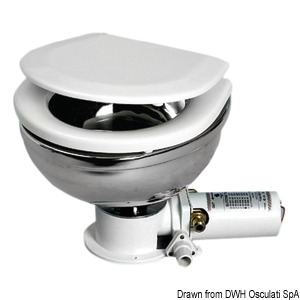 Compact electric toilet unit SS bowl 24 V