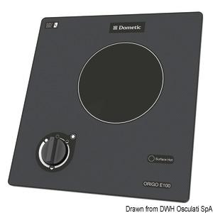 Plan de cuisson électrique en vitrocéramique touch control DOMETIC title=