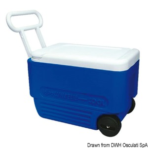 IGLOO iceboxes on wheels title=