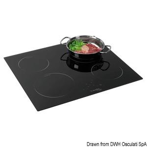 Plan de cuisson vitrocéramique touch control 4 feux title=