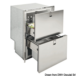 ISOTHERM Drawer 160 stainless steel refrigerator/freezer title=