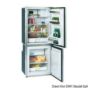 ISOTHERM refrigerator with stainless steel front panel - double compartment title=
