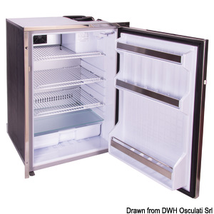 ISOTHERM 130-l refrigerator with stainless steel front panel title=