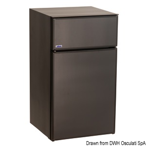 ISOTHERM refrigerator with maintenance-free Secop hermetic compressor - double compartment title=