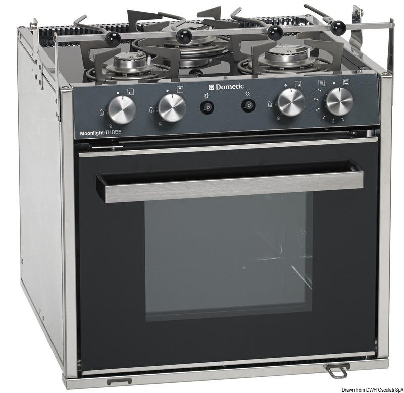 Cucina con forno a gas smev moonlight 3 fuochi - Cucina con forno a gas ...