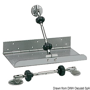 Trim tab actuators/pistons and accessories