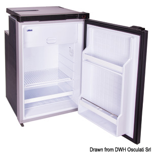 ISOTHERM refrigerator with maintenance-free 100-l Secop hermetic compressor title=