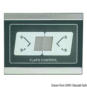 Universal electronic trim tab position indicator