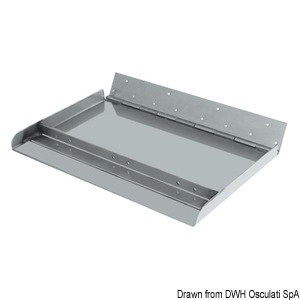 Pair of Maxi series trim tabs, 300-mm depth, fitted with side and central rib title=