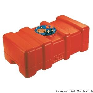 Бак для бензина и дизельного топлива из полиэтилен eltex оранжевого цвета, сертифицированный по CE title=