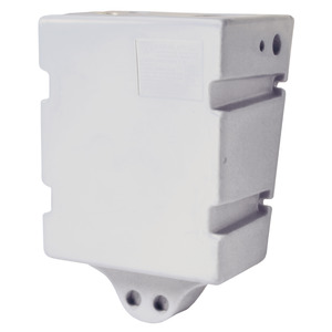 White polypropylene tank, suitable for fresh water, holds 60 litres; designed for wall mounting title=
