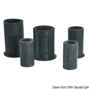 Shaft line bushings made of rubber. External/internal version in millimetres title=