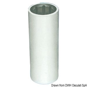 Shaft line bushings with resin outer frame. Millimeters marked on the indise/outside title=
