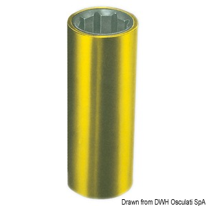 Shaft line bushings with brass external frame. External/internal version in millimetres title=