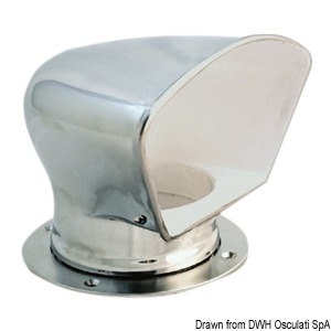DELUXE stainless steel cowl vent title=