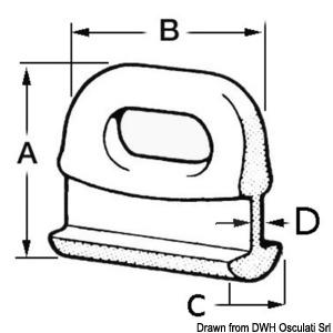 Nylon mainsail slide 14 mm