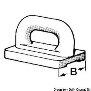 Nylon mainsail slide 16 mm