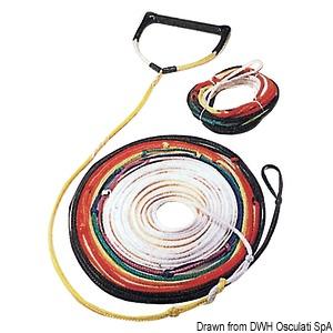 Racing water-ski towing ropes