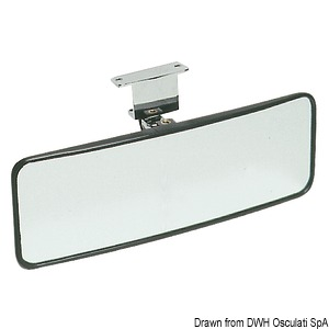Adjustable water-skiing mirror