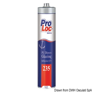 PROLOC 235 UV-resistant PU adhesive for glazing and portlights title=