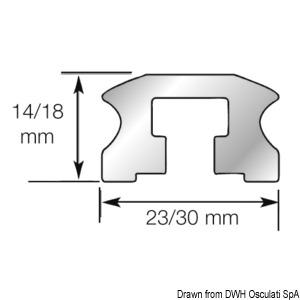 Carrello e rotaia LEWMAR serie NTR