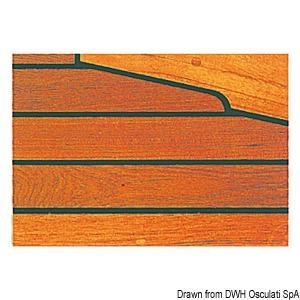 Teak strips for decks